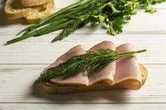 Kruiden en Sandwich Royalty-vrije Stock Afbeeldingen