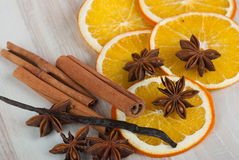 Kruiden en sinaasappel Royalty-vrije Stock Afbeeldingen
