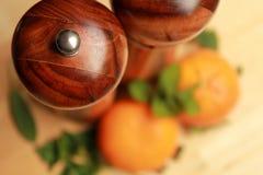Kruiden en sinaasappelen Royalty-vrije Stock Afbeeldingen