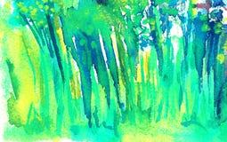 Kruiden groene achtergrond De zomer lang gras vector illustratie