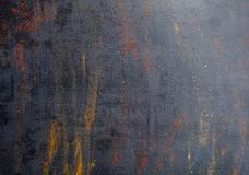 Kruiden Kleurrijke Kruiden Kerrie, Saffraan, kurkuma, kaneel en otheron een donkere concrete achtergrond Peper Grote inzameling v Stock Fotografie