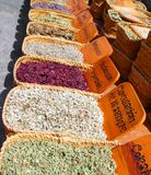 Kruiden natuurlijke traditionele geneeskundemarkt Stock Foto