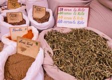 Kruiden op de markt Stock Afbeelding