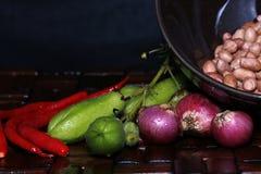 Kruiden typisch van Indonesië vóór gekookt royalty-vrije stock foto