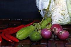 Kruiden typisch van Indonesië vóór gekookt royalty-vrije stock afbeeldingen