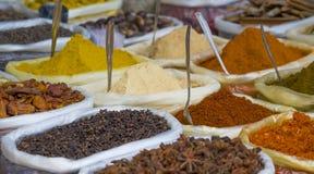 Kruiden van de kurkumamengeling van India Stock Foto's