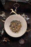 Kruiden voor magisch en rituelen Esoterisch gebruik van kruiden royalty-vrije stock foto