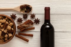 Kruiden voor overwogen wijn Stock Foto