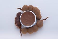 Kruidendievochtinbrengende crème uit tamarinde wordt gehaald Royalty-vrije Stock Afbeeldingen