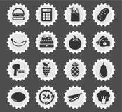 Kruidenierswinkel eenvoudig pictogrammen Stock Foto's