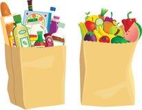 Kruidenierswinkel het winkelen zakken stock illustratie