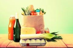 Kruidenierswinkeldocument zak stock afbeeldingen