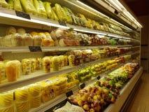 Kruidenierswinkelmateriaal bij de MENSENsupermarkt van DA, Subang USJ, Selangor, Maleisië Royalty-vrije Stock Foto