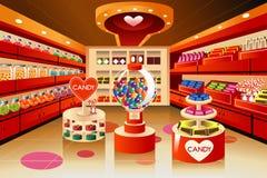Kruidenierswinkelopslag: suikergoedsectie Royalty-vrije Stock Afbeeldingen