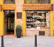 Kruidenierswinkelopslag in Valencia, Spanje Royalty-vrije Stock Foto's