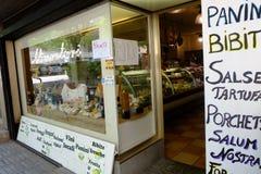Kruidenierswinkelwinkel Stock Foto's