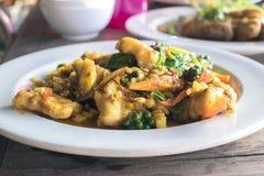 Kruidig beweeg Fried Fish Stock Afbeeldingen