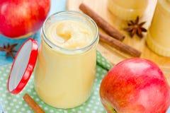 Kruidige appelpuree Stock Foto