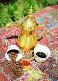 Kruidige exotische Arabische koffie Stock Fotografie