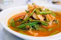 Kruidige groentesoep Royalty-vrije Stock Foto