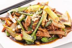 Kruidige kip met groenten Stock Afbeelding