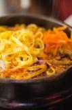 Kruidige Koreaanse soep stock foto's