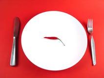 Kruidige maaltijd: -) Stock Fotografie