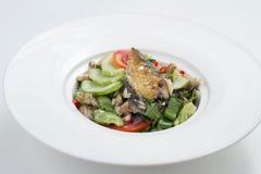 Kruidige mackeral salade Royalty-vrije Stock Foto