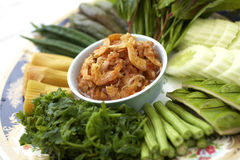 Kruidige onderdompeling in thaifood Stock Foto's