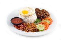 Kruidige rijstschotel royalty-vrije stock foto
