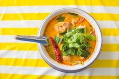 Kruidige soep met garnalen, Tom Yum Soup, Tom Yum Goong Royalty-vrije Stock Afbeelding