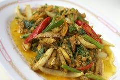 Kruidige Thaise zeevruchten met kruid Royalty-vrije Stock Afbeelding