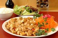 Kruidige tofu stock fotografie