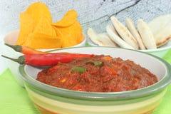 Kruidige tomatensaus Stock Foto