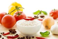 Kruidige voedselingrediënten stock foto's