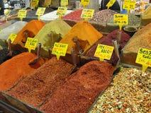 Kruidmarkt in Istanboel, Turkije Stock Afbeelding
