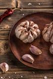 Kruidnagels van knoflook stock fotografie