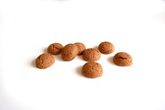 Kruidnoten for Sinterklaas, a Dutch Holiday gingerbread cookie on a white background Stock Photo