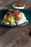 Kruidrundvlees met rijst Stock Fotografie