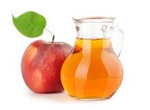 Kruik appelsap royalty-vrije stock afbeelding