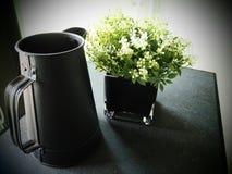 Kruik en bloem Stock Afbeelding