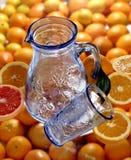 Kruik en glas royalty-vrije stock foto