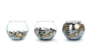 Kruik Geld zoals een Geïsoleerdi Diagram Stock Afbeeldingen