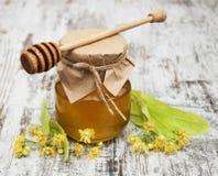Kruik met honing Stock Afbeelding