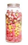 Kruik van gekookte snoepjes Stock Afbeeldingen