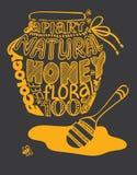 Kruik van honingsbeeld uit woorden wordt samengesteld dat Royalty-vrije Stock Afbeelding