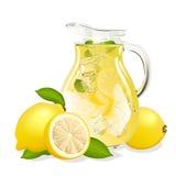 Kruik verse limonade royalty-vrije illustratie
