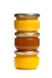 Kruiken honing. Stock Afbeelding
