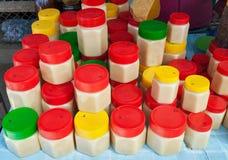 Kruiken honing Stock Fotografie