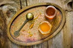 Kruiken honing Royalty-vrije Stock Fotografie